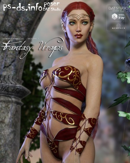 Fantasy Wraps for Genesis 3 Female(s)