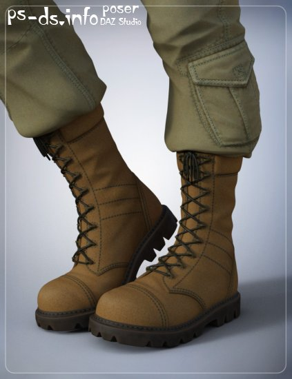 Tactical Boots for Genesis 3 Male(s)