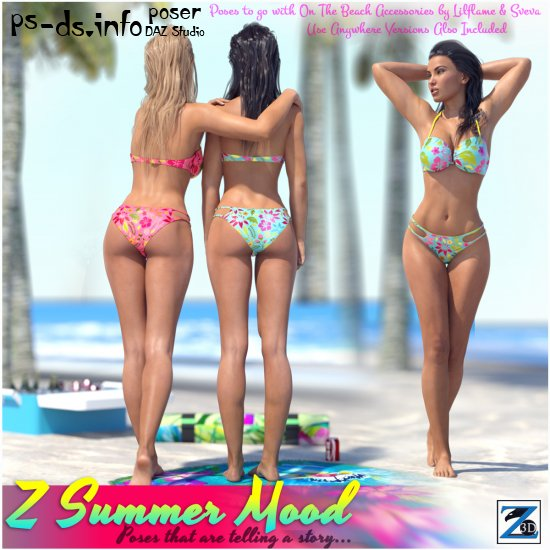Z Summer Mood - Poses for the Genesis 3 Female(s)