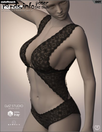 Lace Teddy for Genesis 3 Female(s)