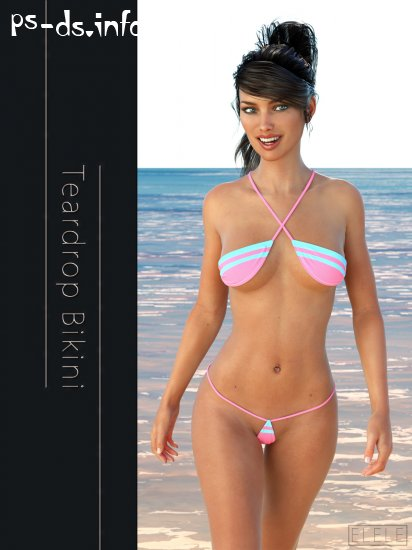 Teardrop Bikini For G3F