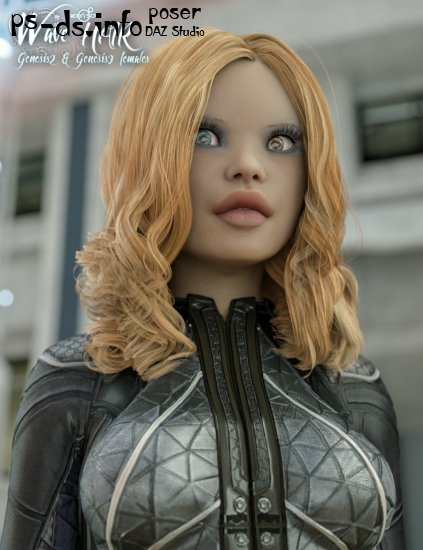 Wave Hair for the Genesis 3 Female(s) and Genesis 2 Female(s)
