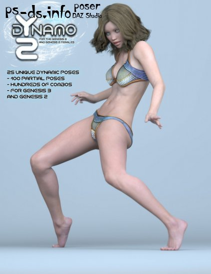 dYnamo 2 Poses for Genesis 3 and 2 Female(s)