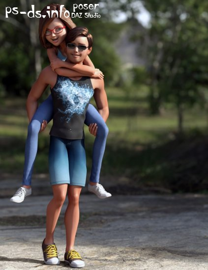 Stylized Megan and Matt Mega Bundle for Genesis 3 Female(s) and Male(s)