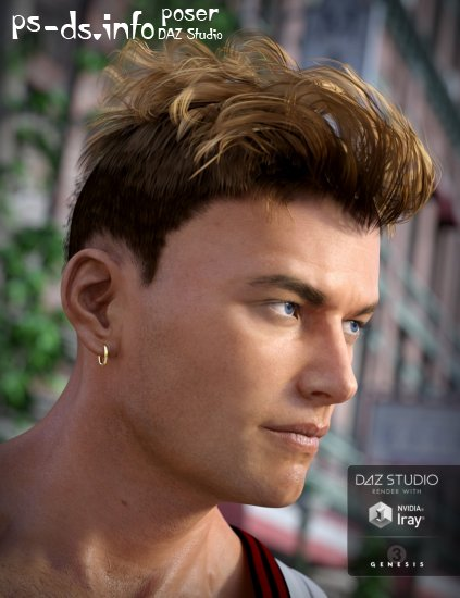 Heart Throb Hair for Genesis 3 Males