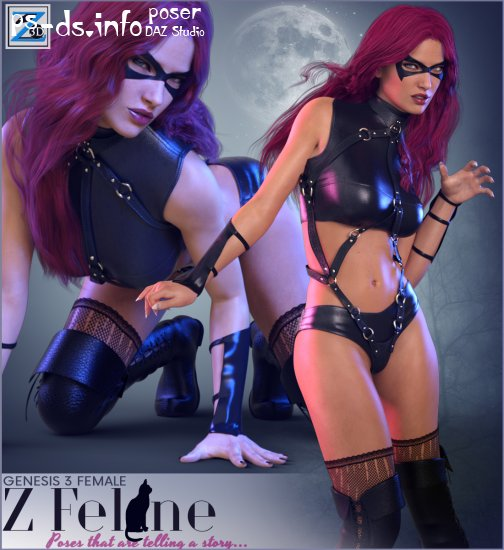 Z Feline - Poses for the Genesis 3 Female(s)