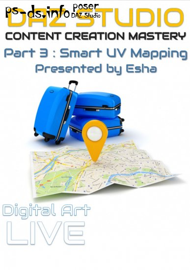 Daz Studio Content Creation Mastery Part 3 : Smart UV Mapping
