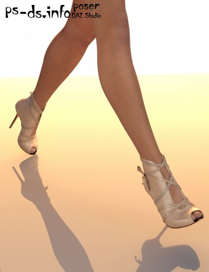 Peep Toe High Heel for Genesis 3 Female(s)