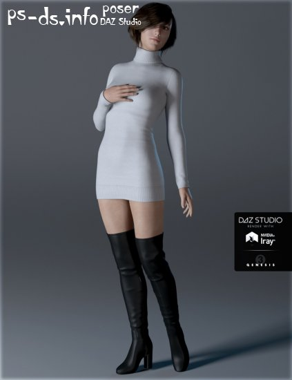 Sweater Dress for Genesis 3 Female(s)