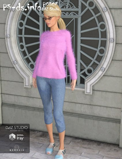Angora Sweater Outfit for Genesis 3 Female(s)