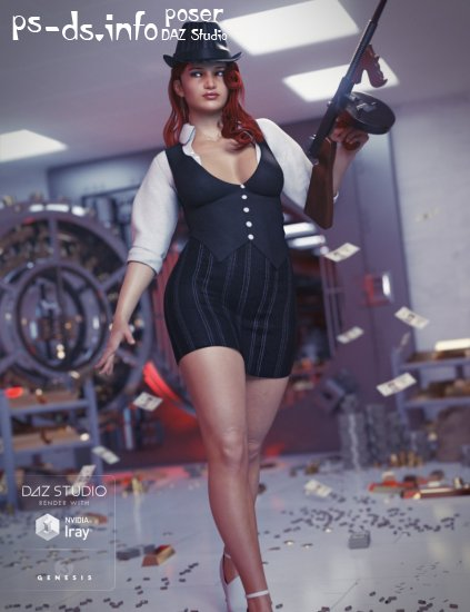 Gangster Outfit for Genesis 3 Female(s)