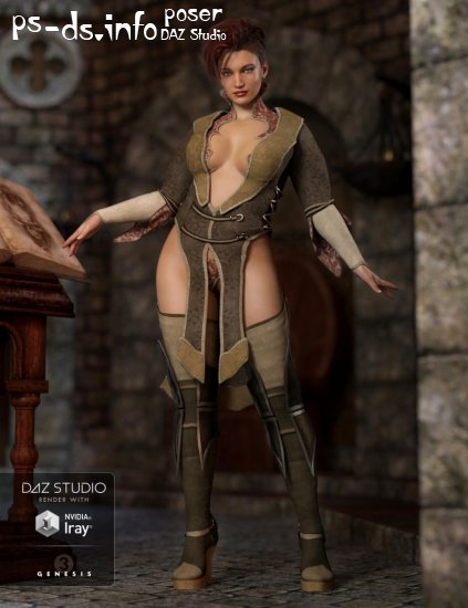 Zodiac Sorceress Outfit for Genesis 3 Female(s)