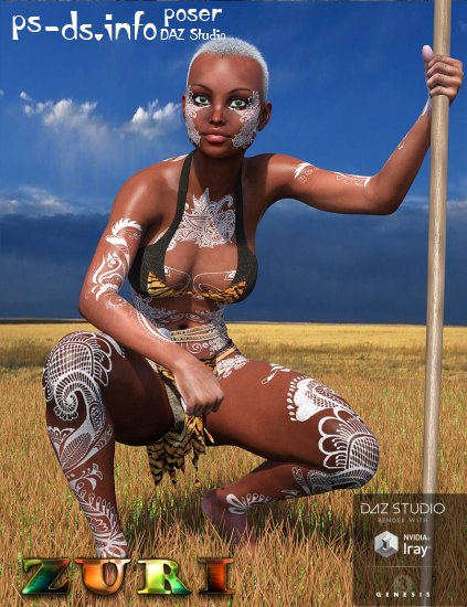 Zuri for Genesis 3 Female