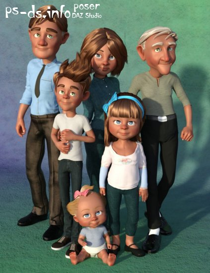 FSL Extended Family Shapes for Toon Generations 2