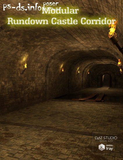 Modular Rundown Castle Corridor