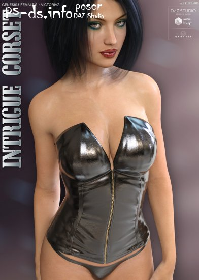 Intrigue Corset for Genesis 3 Females