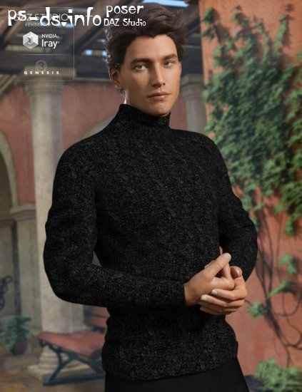 Real Feel Turtleneck Modern for Genesis 3 Male(s)
