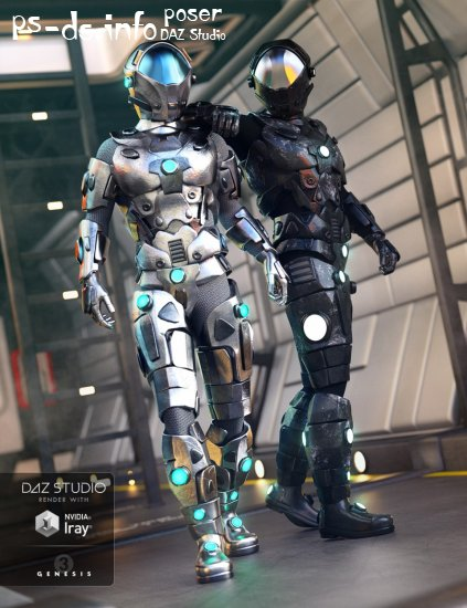 Galactic Armor Outfit for Genesis 3 Male(s)