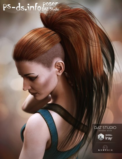 Nydo Hair for Genesis 3 Female(s)