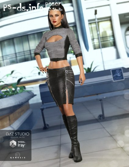 Alloy Fusion Outfit for Genesis 3 Female(s)