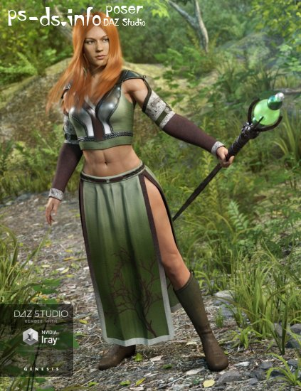 Woodland Summoner Outfit for Genesis 3 Female(s)