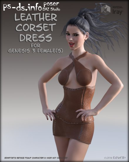 Leather Corset Dress for G3F