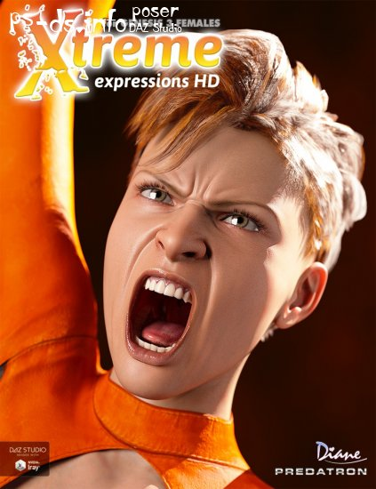 Xtreme Expressions HD for Genesis 3 Female(s)