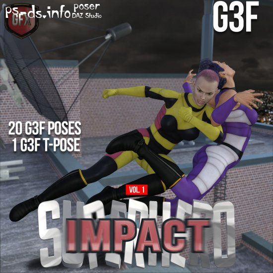 SuperHero Impact for G3F Volume 1