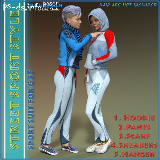 Street Sport Style: Sports Suit for Genesis 3 Female(s)