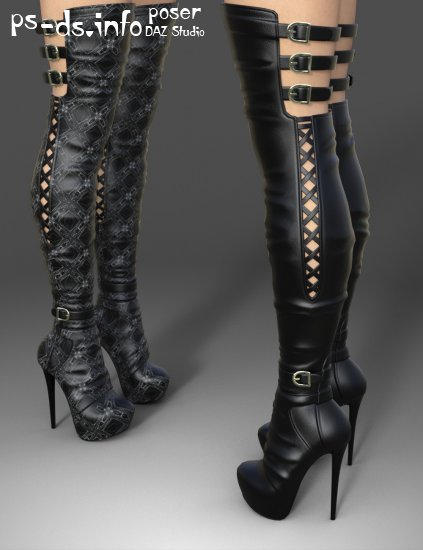 Amelia High Boots for Genesis 3 Female(s)