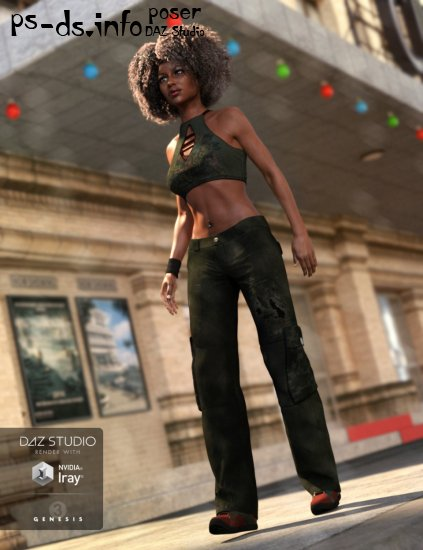 Hip Hop Outfit Genesis 3 Female(s)