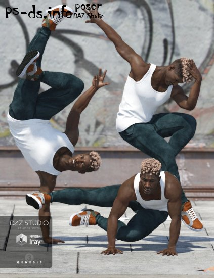 Capsces Hip Hop Poses and Expressions for Genesis 3 Male(s)