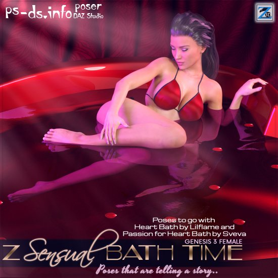 Z Sensual Bath Time - Poses for the Genesis 3 Female(s)