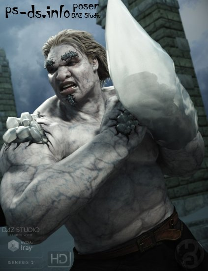 Frost Giant for Genesis 3 Male