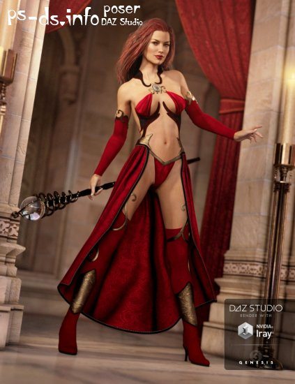 Sexy Sorceress for Genesis 3 Female(s)