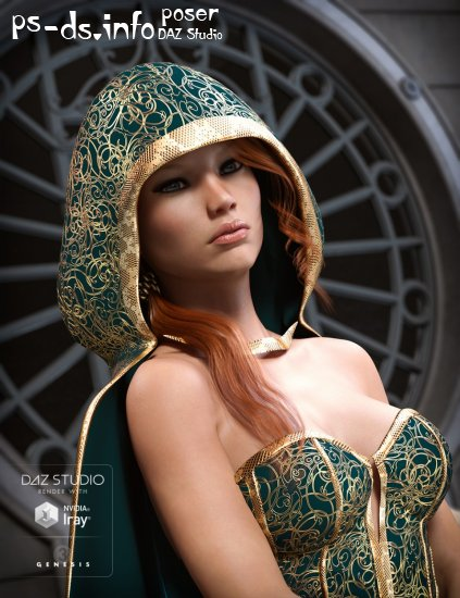 Hooded Cloak for Genesis 3 Female(s)