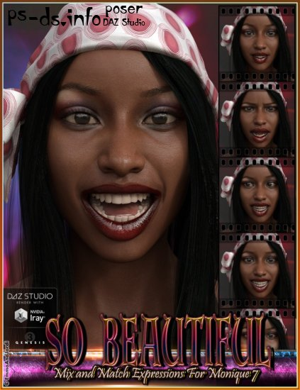 So Beautiful Mix and Match Expressions for Monique 7 and Genesis 3 Female(s)