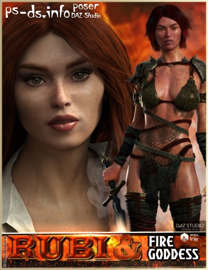 EJ Rubi and Fire Goddess for Genesis 3 Female