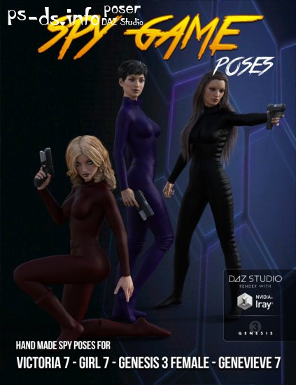 Spy Games Poses for Genesis 3 Female(s)