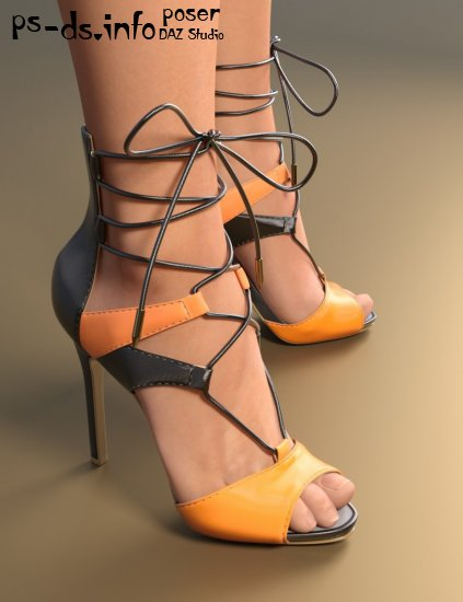 Lace Up Heels for Genesis 3 Female(s)