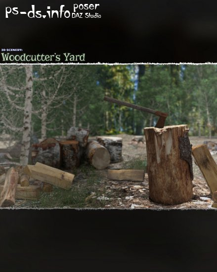 3D Scenery: Woodcutter's Yard