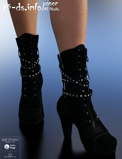 Biker Boots for Genesis 3 Female(s)