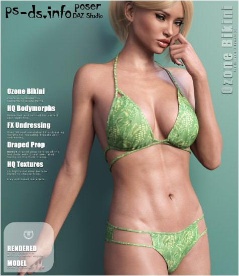 Ozone Bikini for Genesis 3 Females