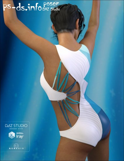 8645b522d38e1 Wicked Strappy Swimsuit for Genesis 3 Female(s) » Poser - DAZ Studio