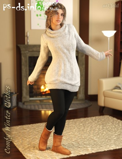 Comfy Winter Clothes for Genesis 3 Female(s)