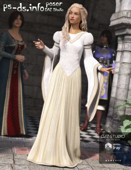 Medieval Princess Dress for Genesis 3 Female(s)