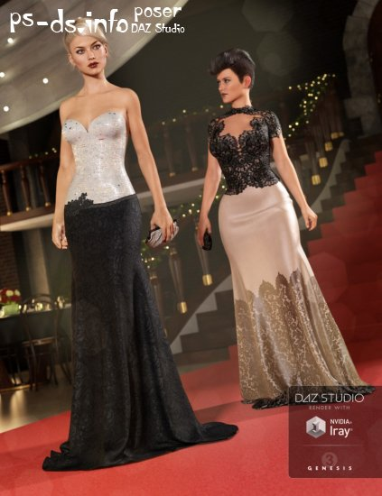 Vogue Evening Gown Textures