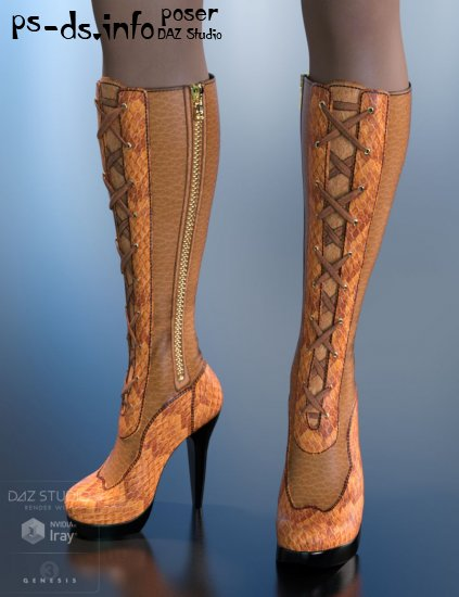 Tessa Boots for Genesis 3 Female(s)