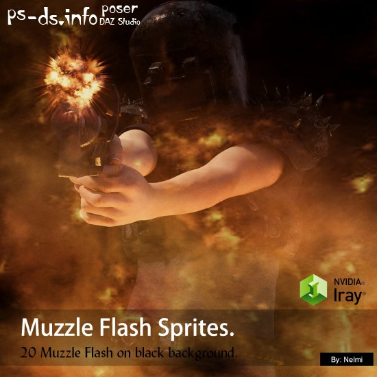 20 Muzzle Flash Sprites Merchant Resource