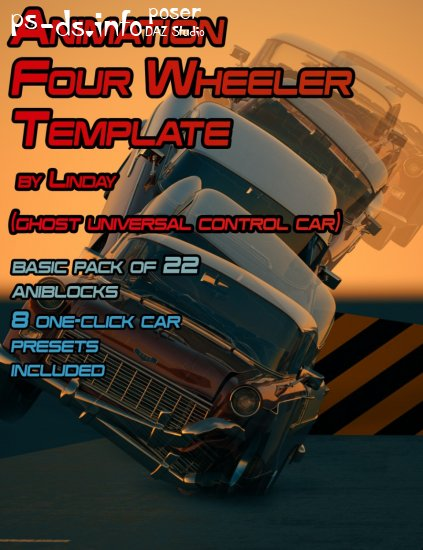 Animation Four Wheeler Template
